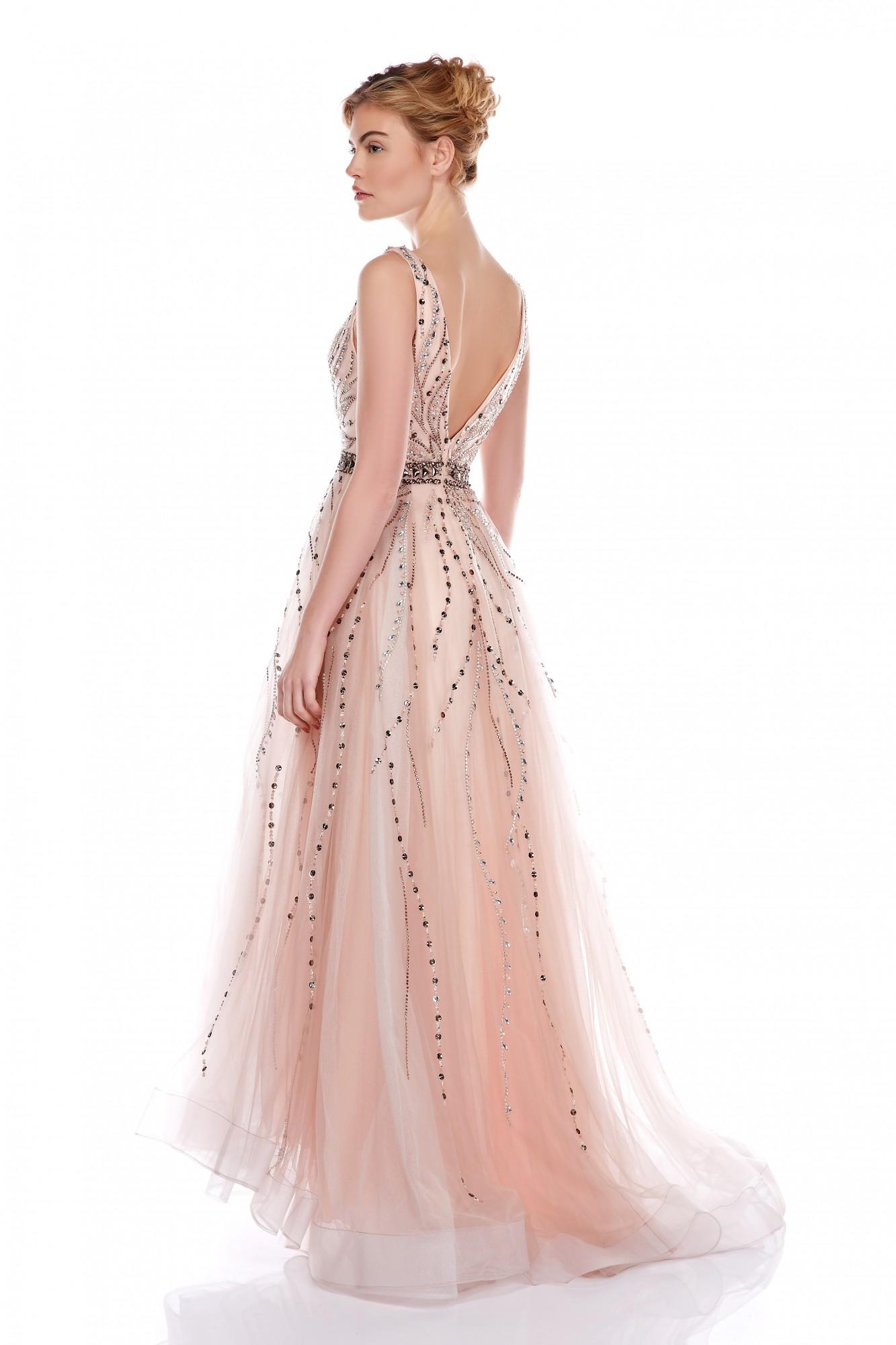 nouvelles images de frais frais livraison gratuite robe longue de soirée rose poudre marseille modèle Meliza ...