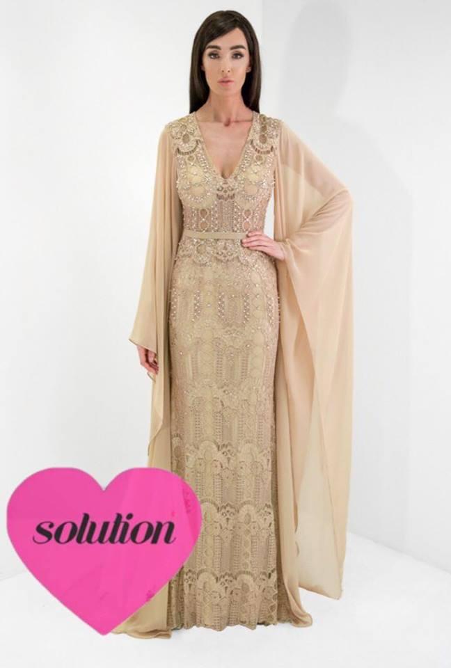 taille 7 détaillant bon service robe de soirée longue brodée de dentelle avec manches de ...